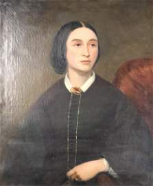 SIGNED P Fanshaw  Mid 19th Century Female Portrait