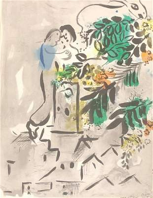 Marc Chagall Colored lithograph dated 1954