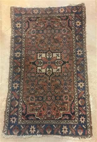 Antique hand woven Persian prayer rug