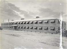 WWII ORIGINAL historic PHOTO vintage X49 BARRACKS MAIN