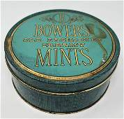 B BOWERS old Fashioned Dreamy MINTS, blue & gold candy