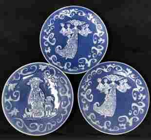 Three Signed S.KV Mother Day Royal Copenhagen plates
