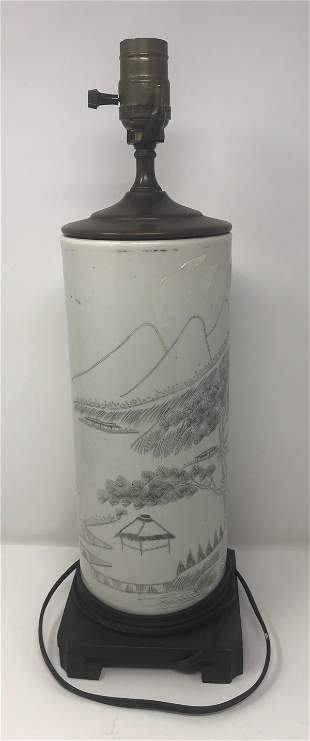 20 th century Chinese lamp 18 H