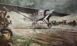 KNOTEK the SECOND BOUNCE Lindbergh Flight 1927 color