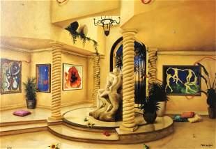 Orlando Raphael EMBRACE Giclee on Canvas 8/99