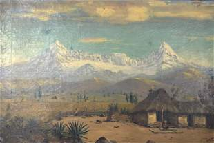 Early 20 th Century S Endara oil painting of South