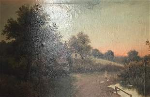 Framed Signed Robert Fenson Oil painting 1915