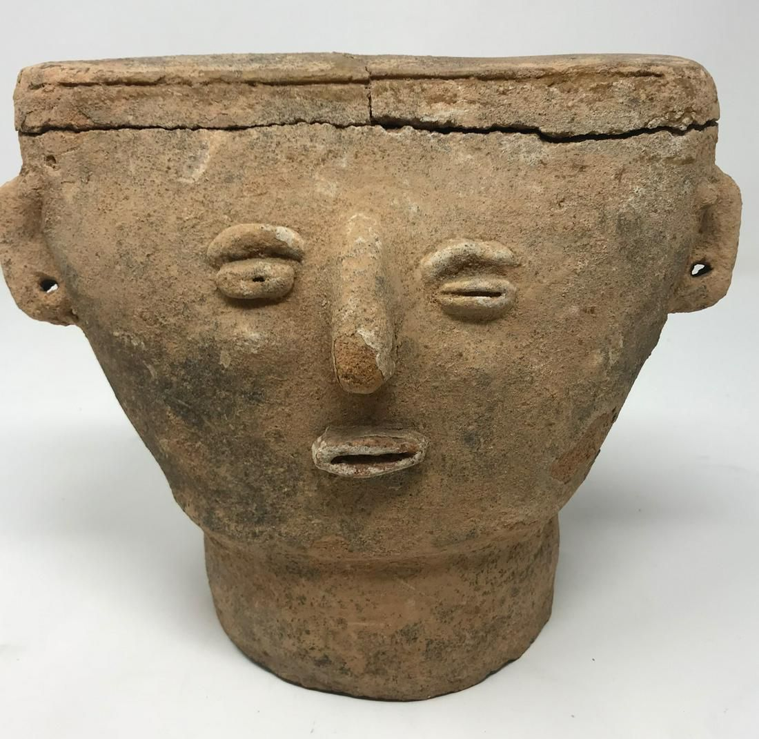 Antique Pre Colombian Burial Mask