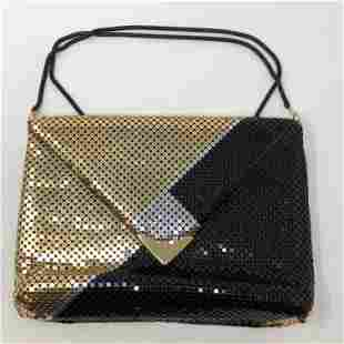 MAX statement purse GOLD & BLACK SEQUINED