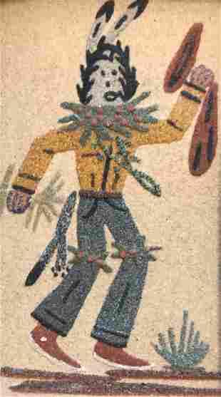 Framed Roselyn Howe Native American Sand painting