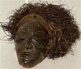 Vintage Original TSHOWE/ CHOKWE Tribal Mask/ Zaire