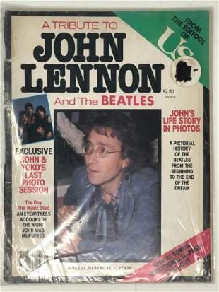 A TRIBUTE TO JOHN LENNON, From the Editors of US