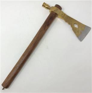 Golden steel battle hatchet