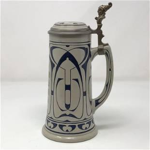 Vintage BEER STEIN GERMAN GESETZEL GESCHUTET 1670 16