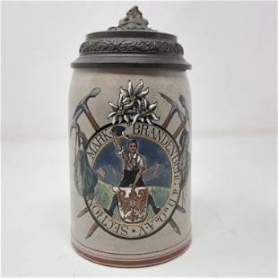 German Beer Stein 1/2 L. MARK BRANDENBURG d. D. u. Oe.