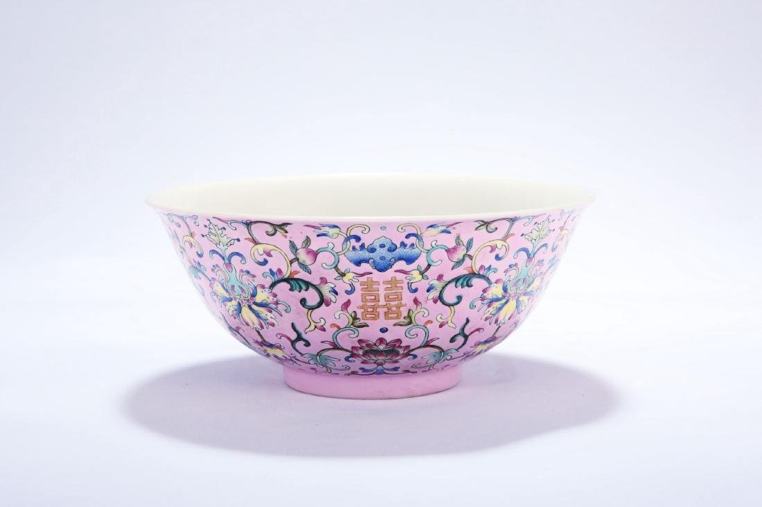 Chinese famille rose porcelain bowl, Daoguang mark.