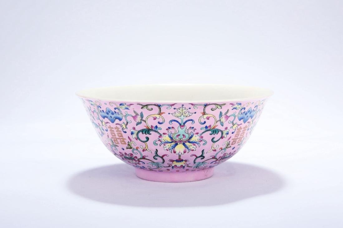 Chinese famille rose porcelain bowl, Daoguang mark. - 2