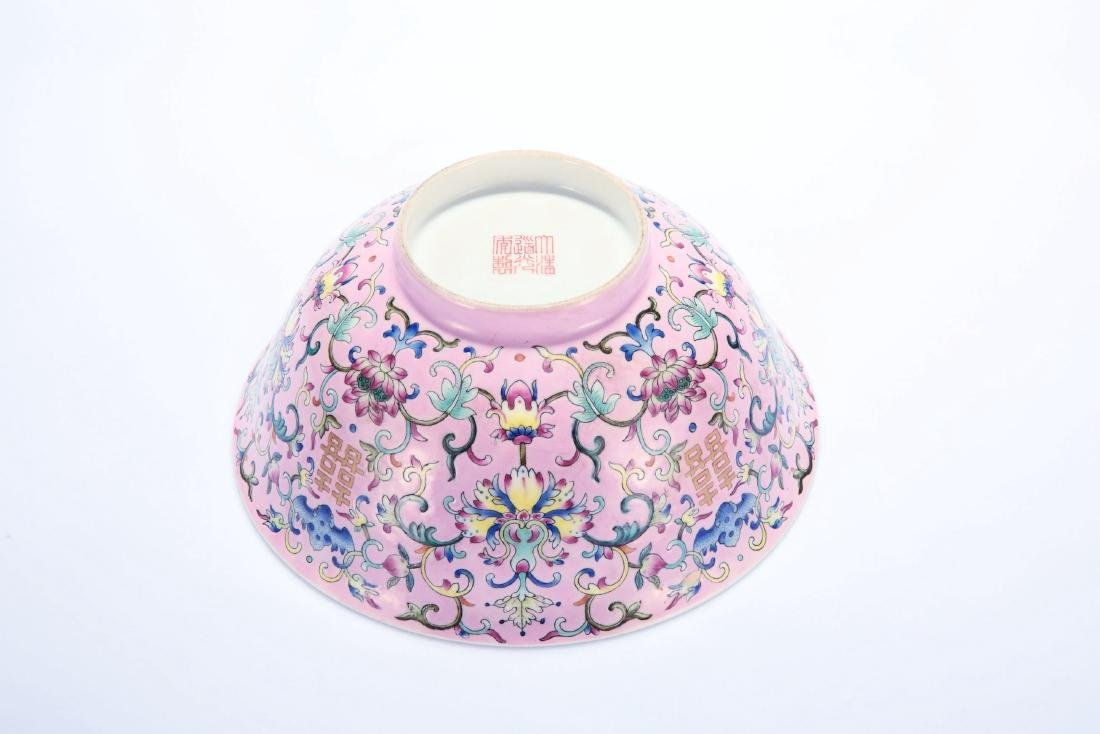 Chinese famille rose porcelain bowl, Daoguang mark. - 5