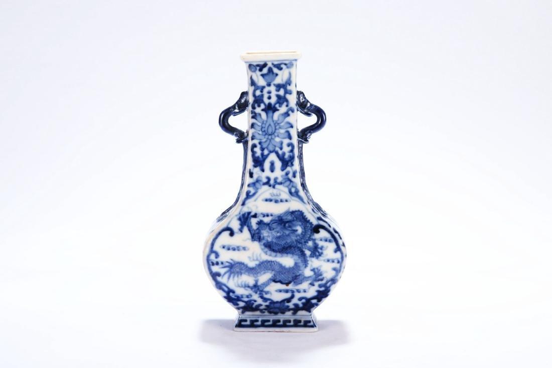 Chinese blue and white porcelain vase, Jiaqing mark.