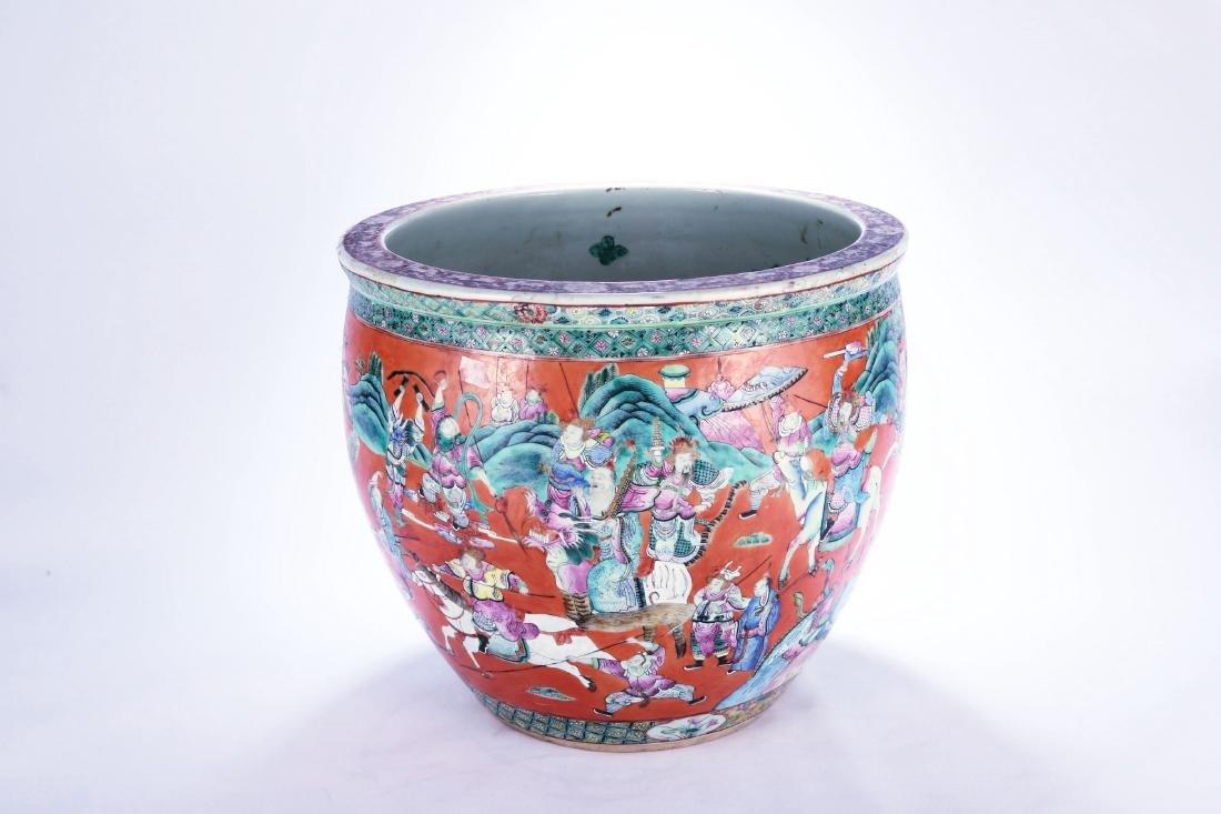 Chinese famille rose porcelain fish bowl.