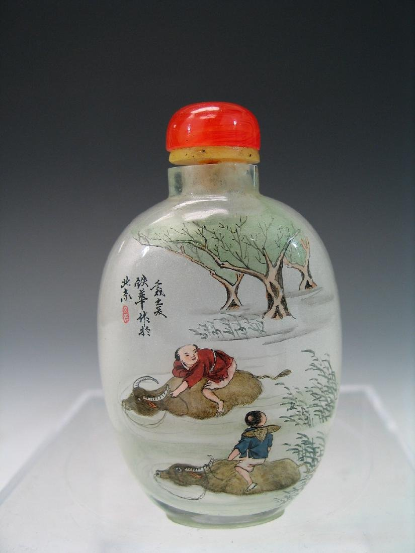 Chinese reverse glass painted snuff bottle.