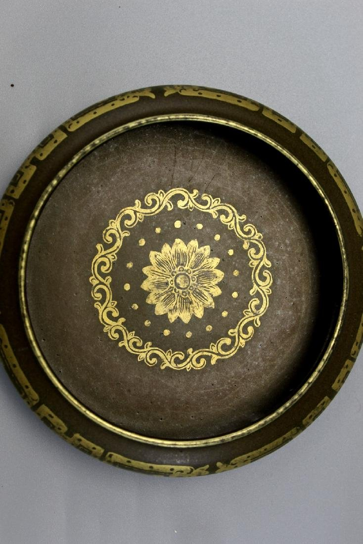 Chinese porcelain brush washer, Qianlong mark. - 4