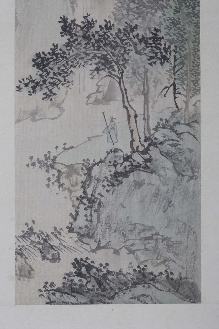 Chinese ink painting on paper, signed Puru. - 2