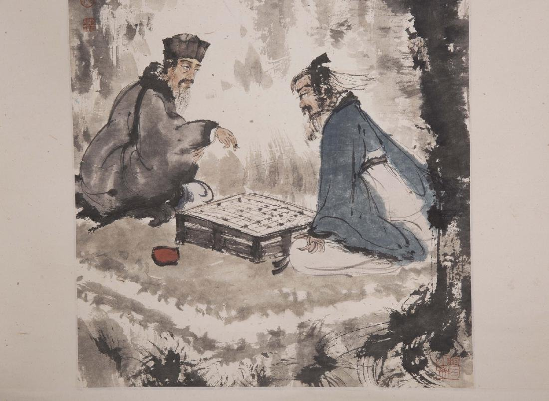 Chinese painting on paper, signed Fu Baoshi. - 2