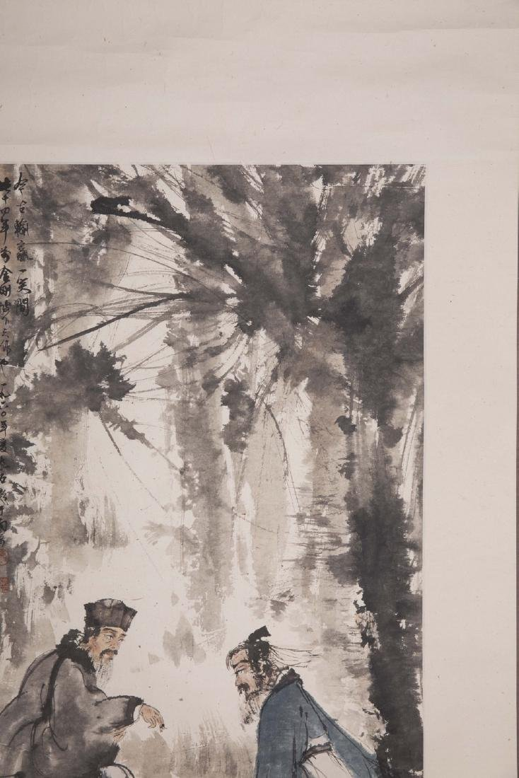 Chinese painting on paper, signed Fu Baoshi. - 3