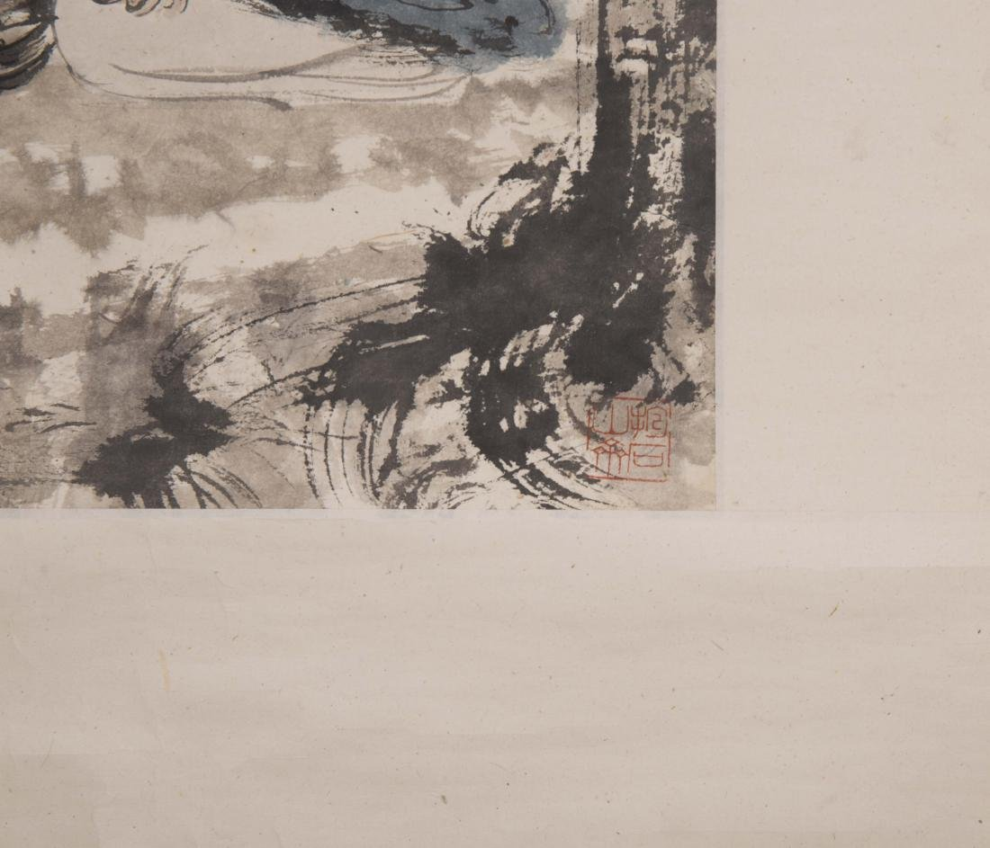 Chinese painting on paper, signed Fu Baoshi. - 5