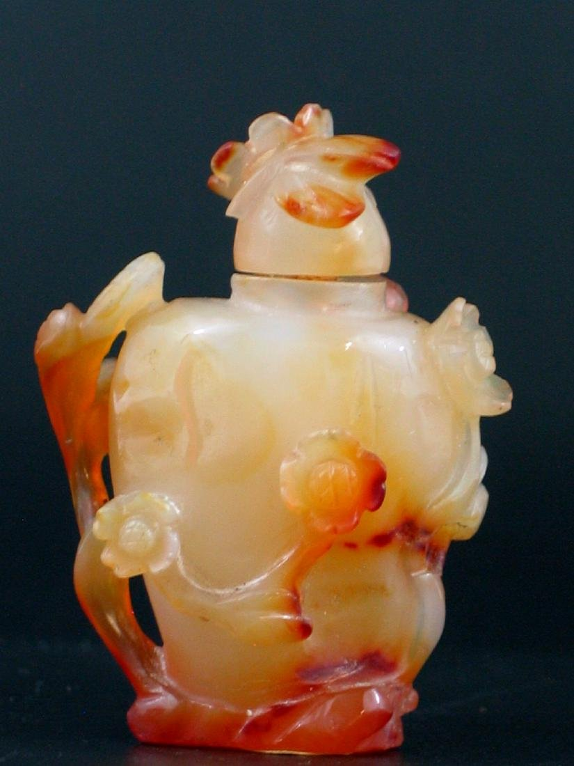Chinese Carved Agate Snuff Bottle. - 2