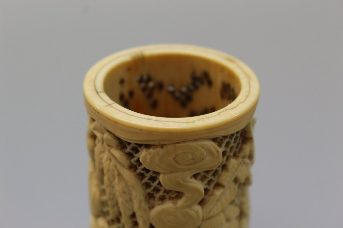 Small Chinese carved brush pot. Qing Dynasty. - 3