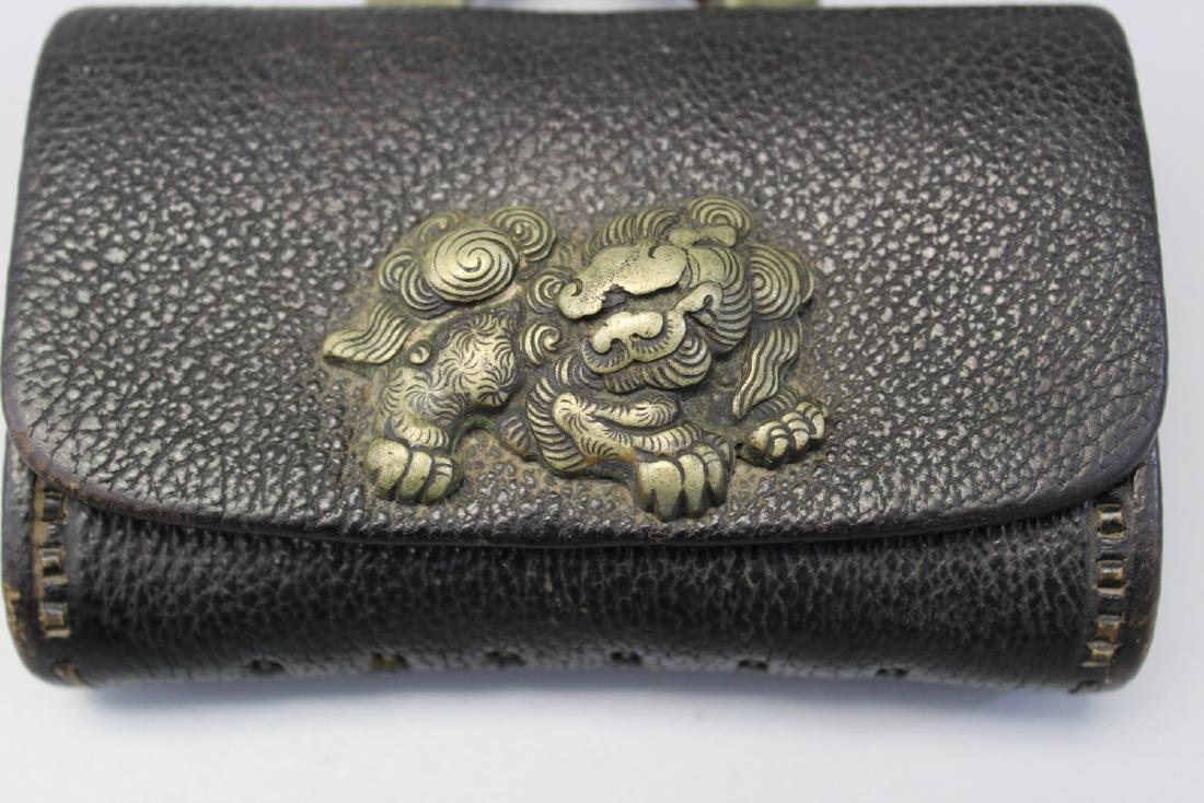 Japanese tobacco or money pouch, Meiji era - 3