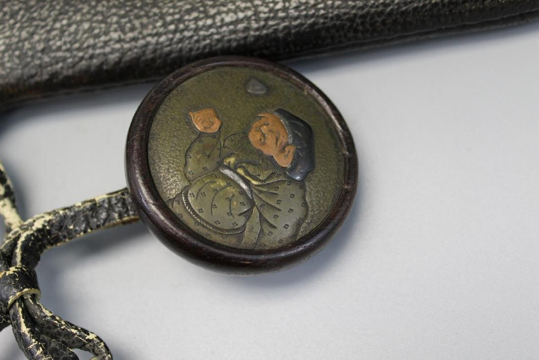 Japanese tobacco or money pouch, Meiji era - 4
