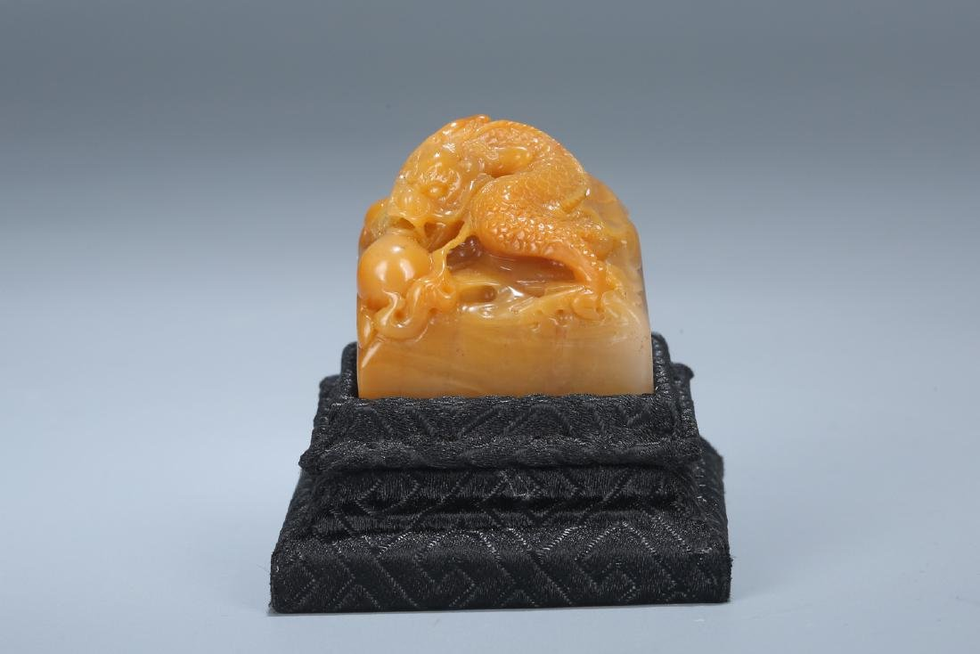 Chinese carved soapstone seal.