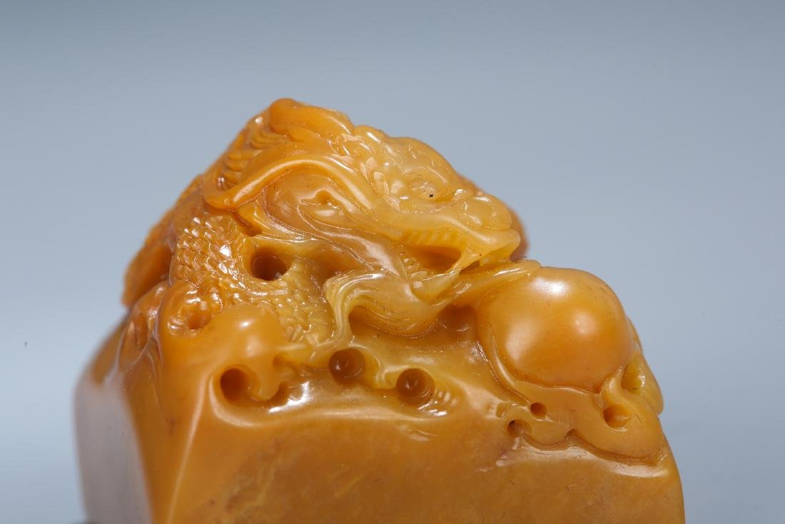 Chinese carved soapstone seal. - 7