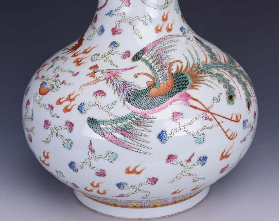 Chinese famille rose porcelain vase, Guangxu mark. - 6