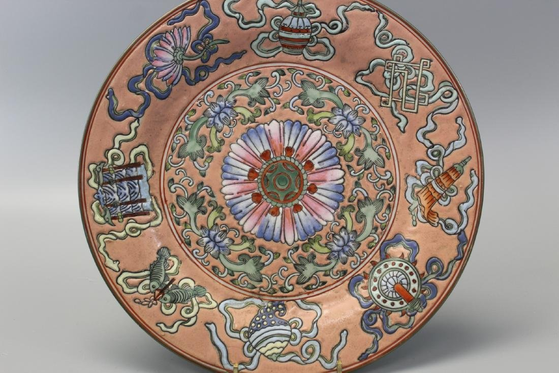 Chinese famille rose porcelain plate.