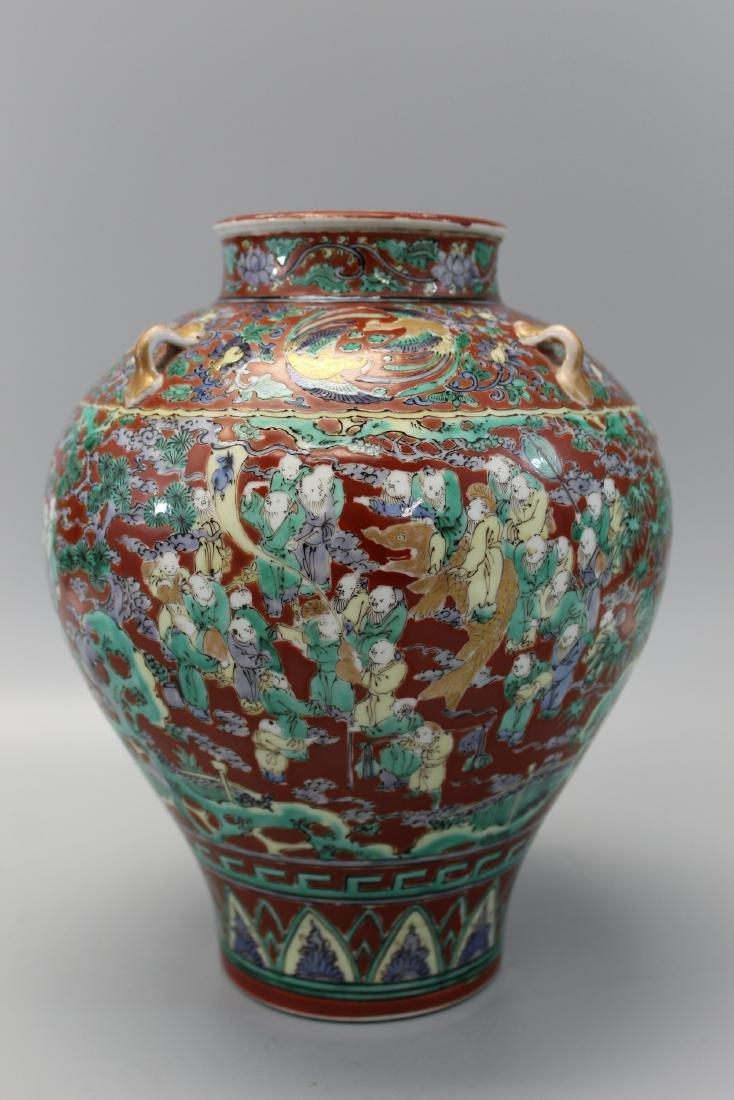 A very rare Japanese Hundred-boy porcelain jar.