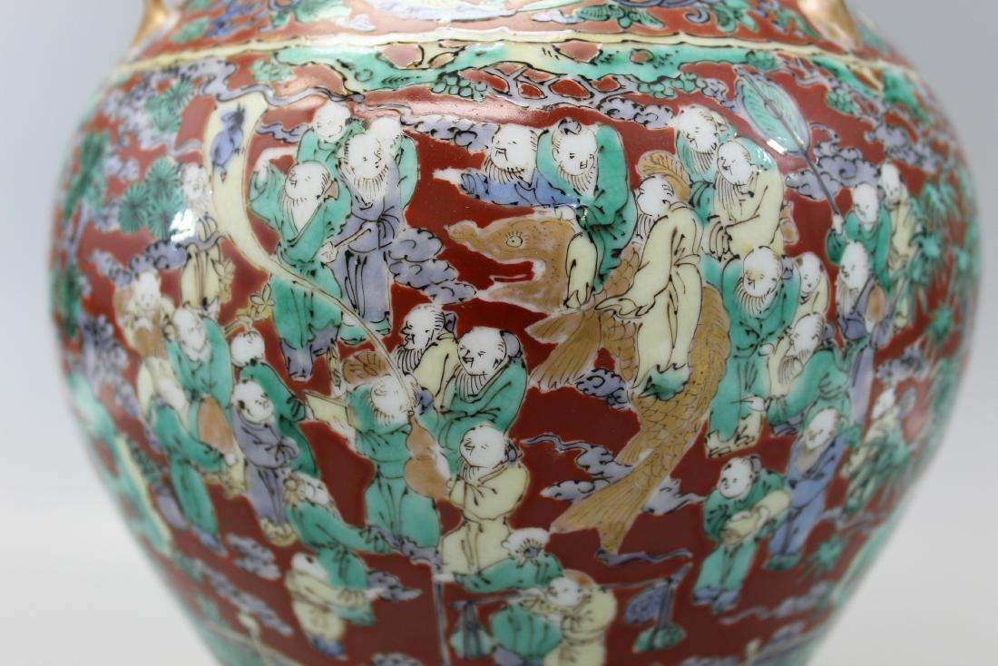 A very rare Japanese Hundred-boy porcelain jar. - 2