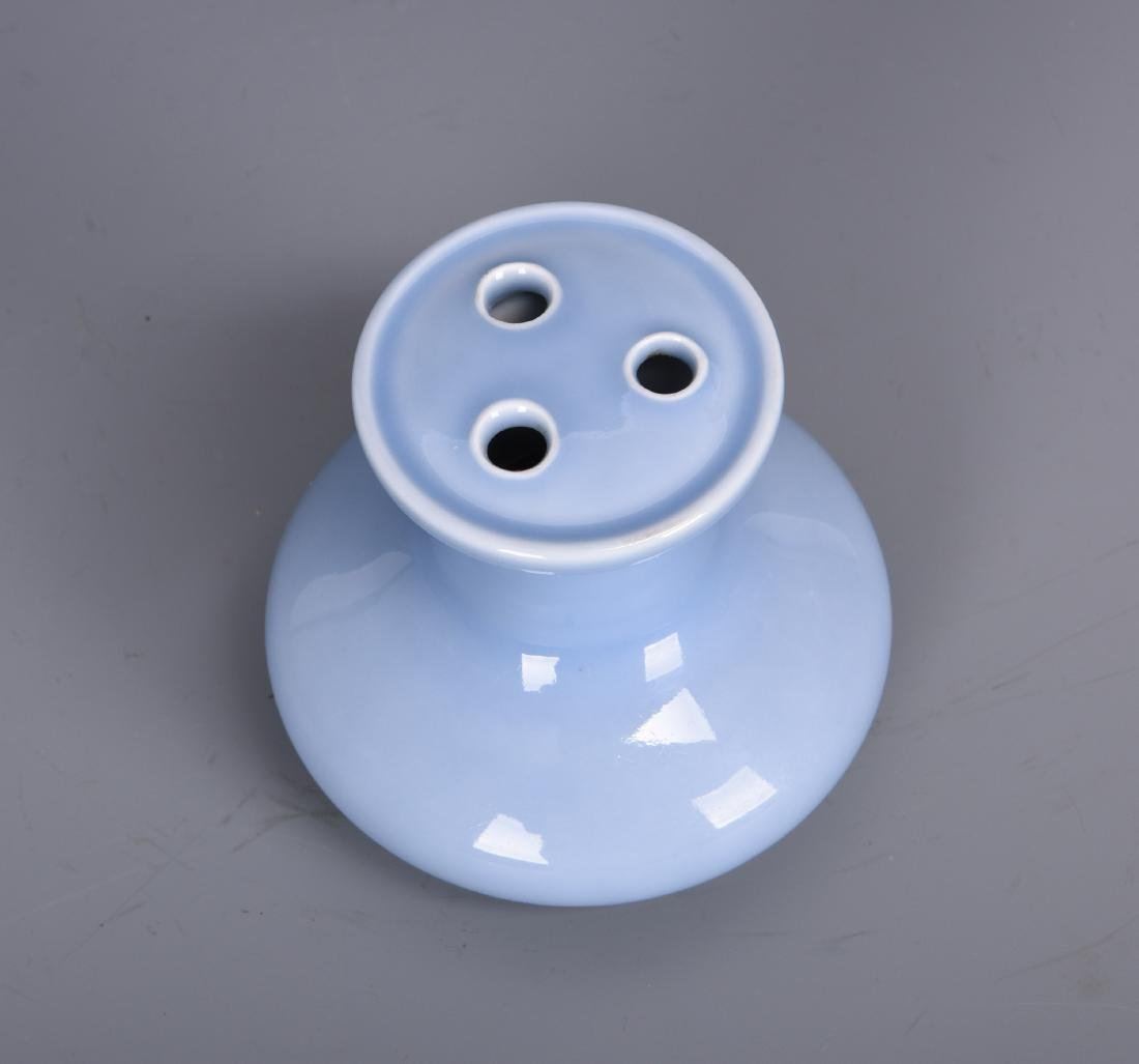 Chinese Clair de Lune porcelain vase, Qianlong mark. - 4