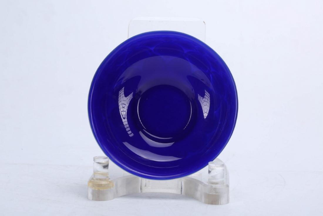 Chinese Peking glass bowl, Qianlong mark. - 2