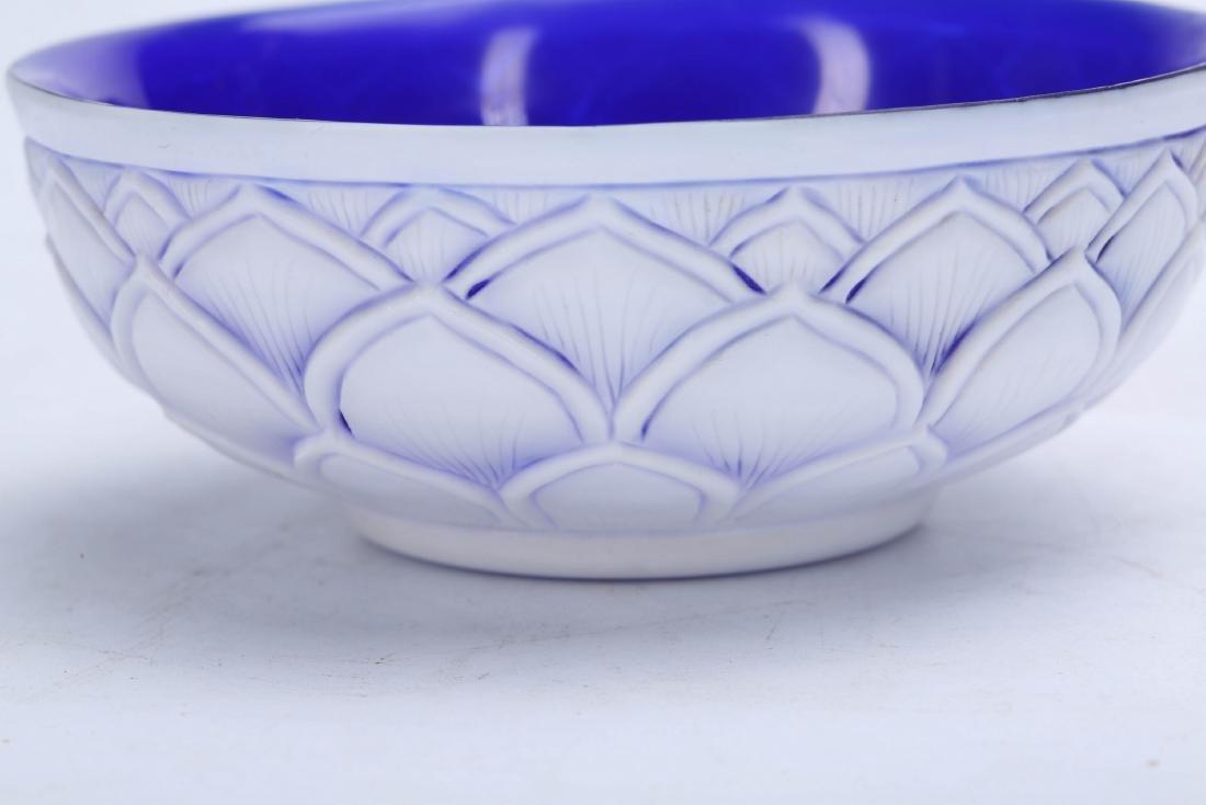Chinese Peking glass bowl, Qianlong mark. - 4