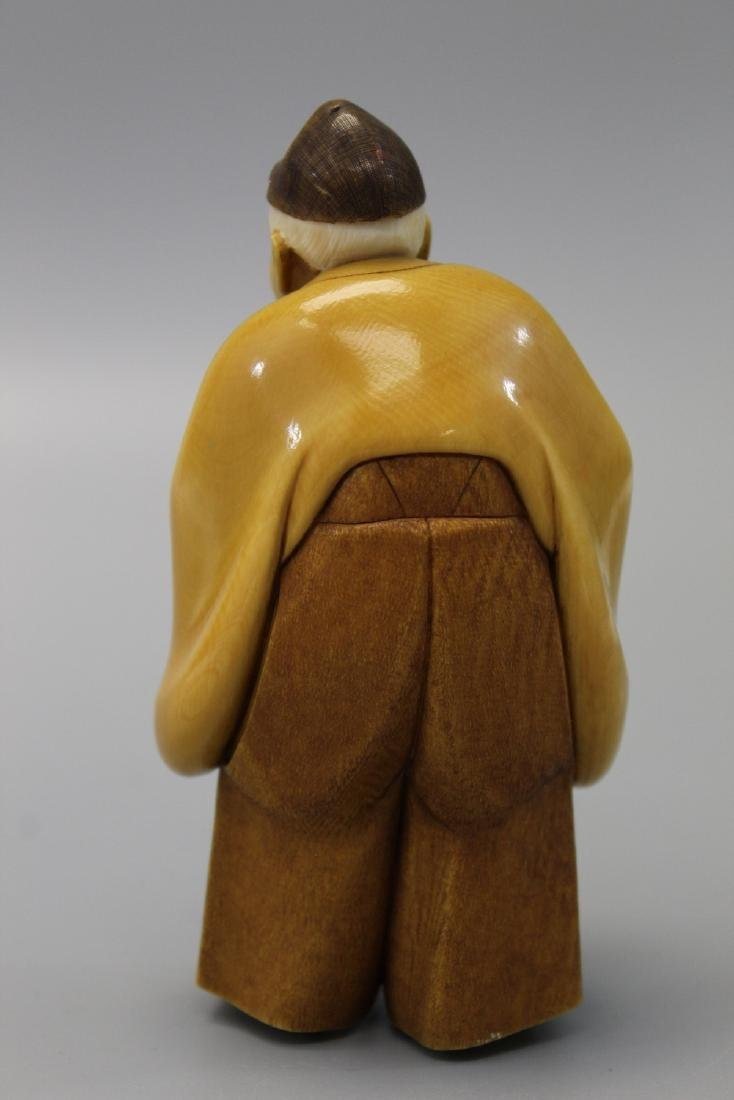 Japanese carved figurine. - 3