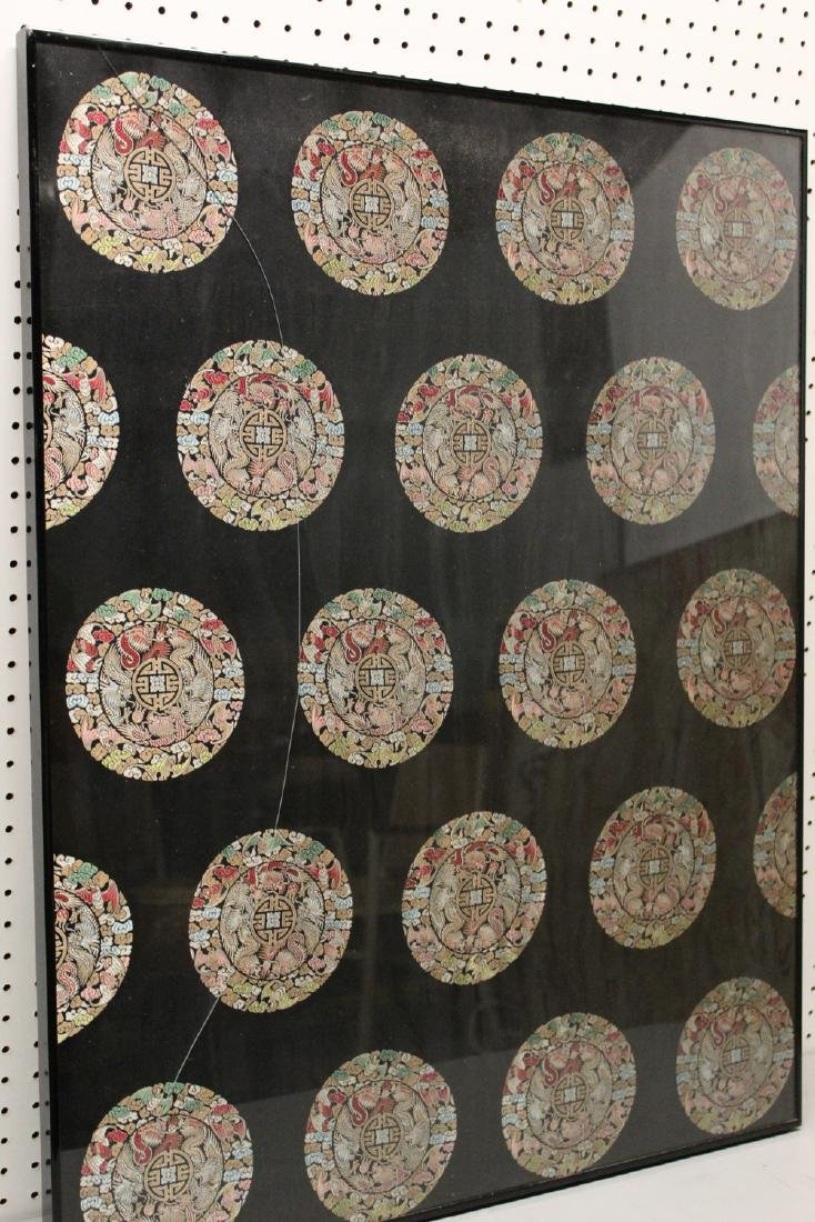 Framed Chinese silk embroidery.