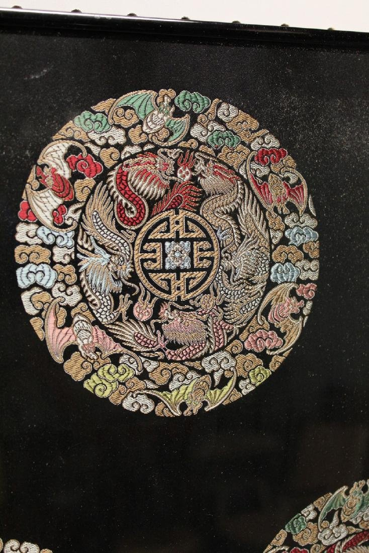 Framed Chinese silk embroidery. - 2