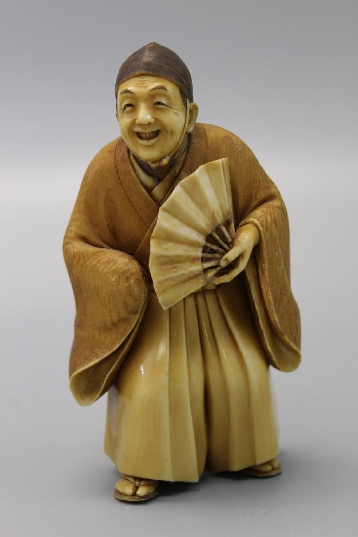 Japanese carved figurine.