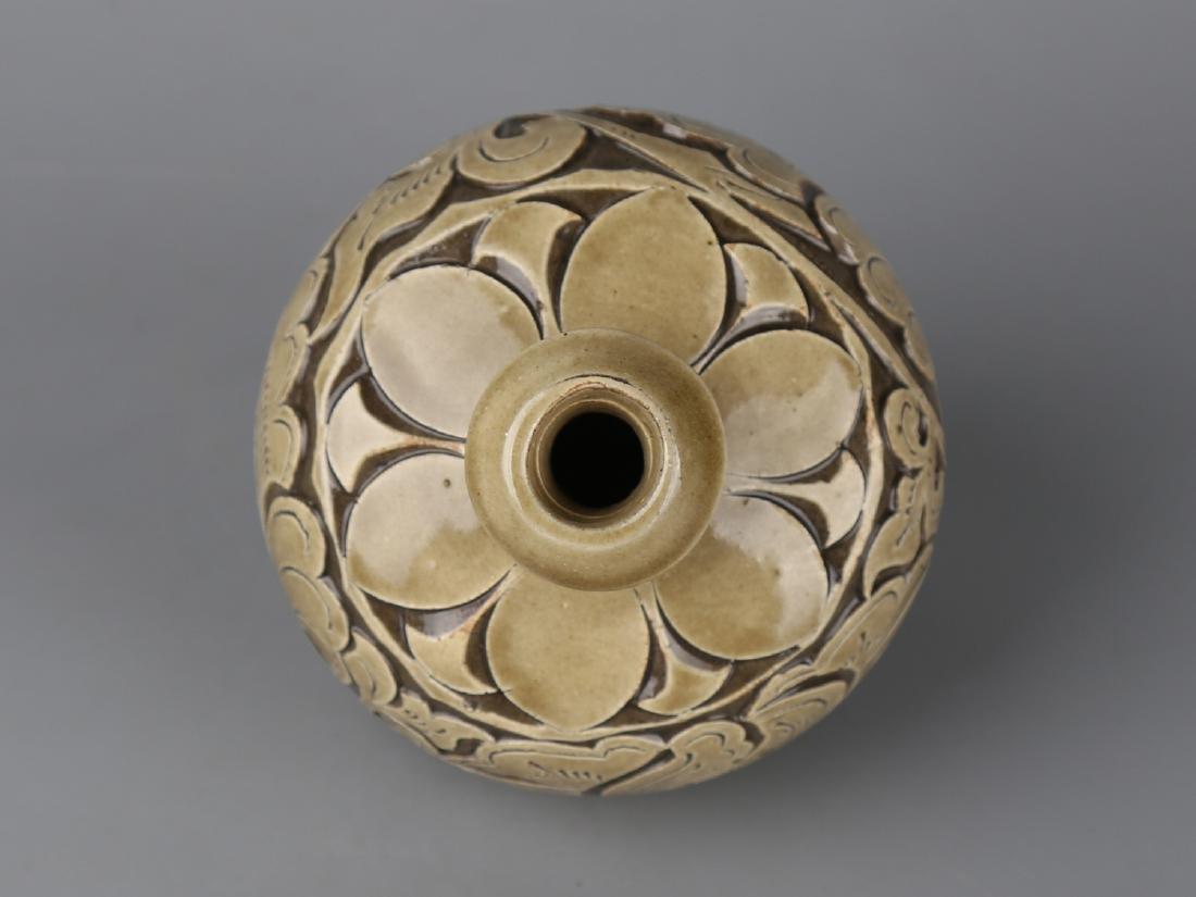 Chinese celadon glaze pottery jar. - 2