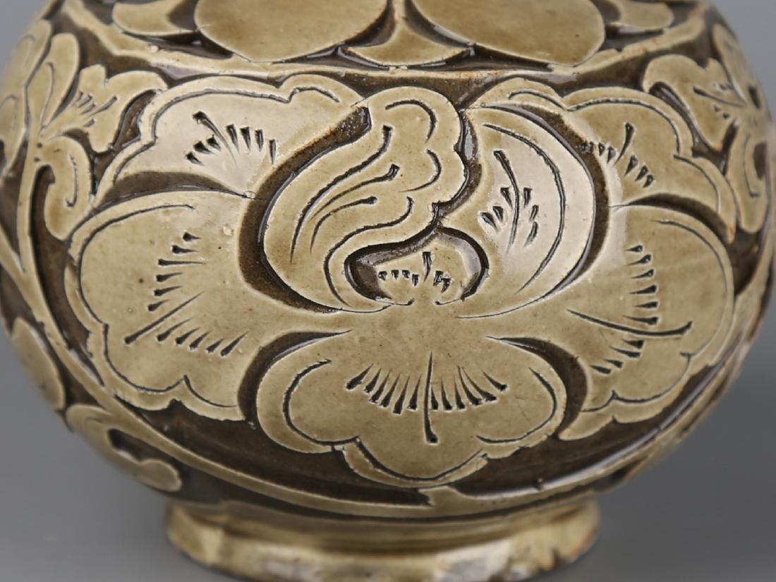 Chinese celadon glaze pottery jar. - 5