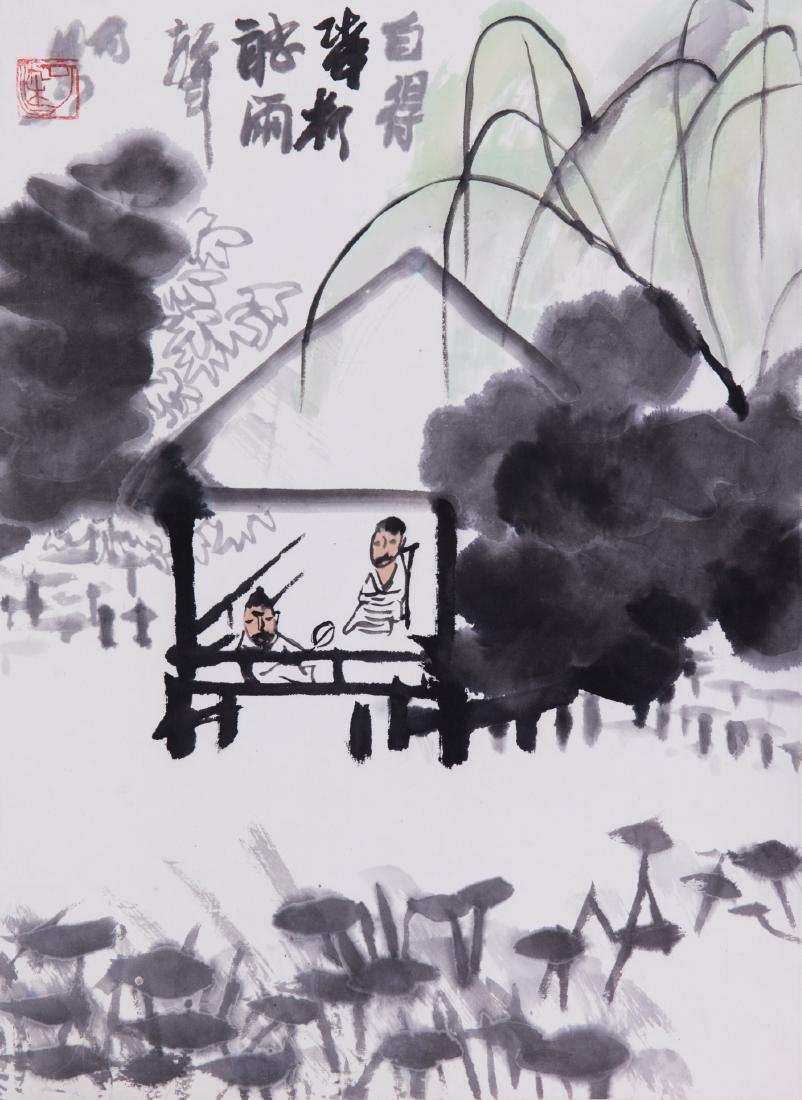Chinese ink painting, attributed to Li Keran.